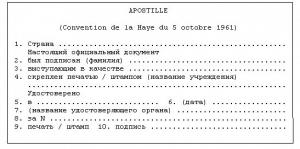 Апостиль в Москве